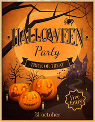 Halloween Party Trick or Treat Vector Illustration
