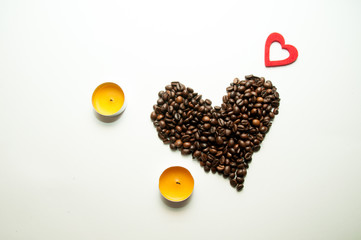 Romantic coffee composition