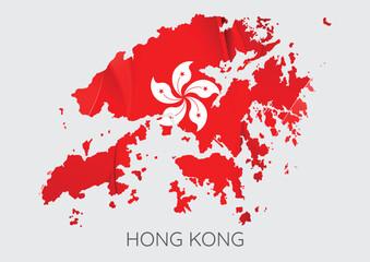 Map of Hong Kong Fotomurales