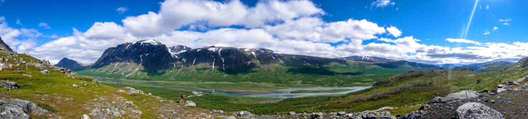 Wide-format panorama for an architectonic visualization. Northern Sweden, Sarek National Park