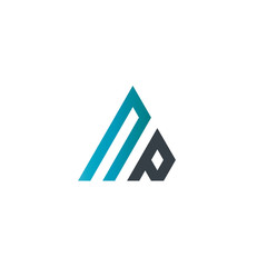Initial Letter NP Linked Triangle Design Logo