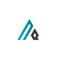 Initial Letter NQ Linked Triangle Design Logo