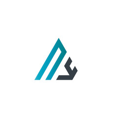 Initial Letter NY Linked Triangle Design Logo