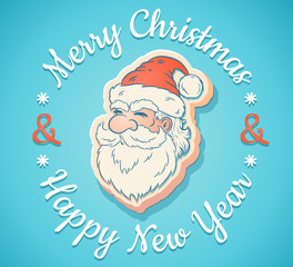 emblem with Santa Claus