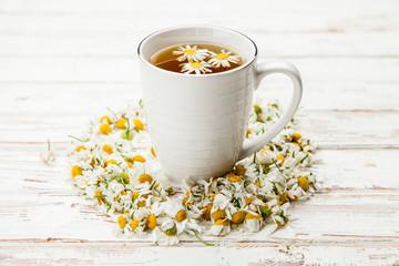 Fotoväggar - Cup of chamomile tea