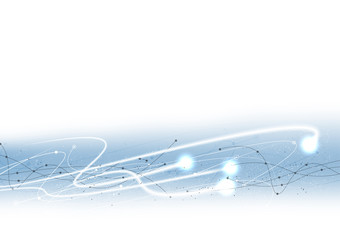 vector white background abstract technology communication data Science