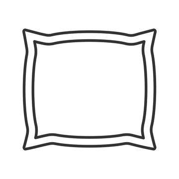 Square pillow linear icon