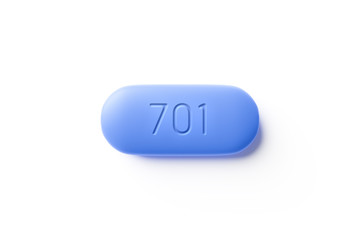 typical PrEP pill with the number 701