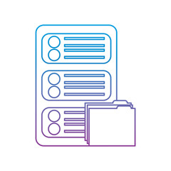 data center server folder file document organize vector illustration