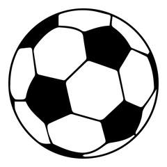 In de dag Bol Soccer ball icon, simple black style