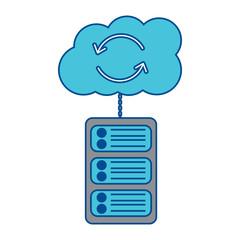 data base server cloud connection hosting info vector illustration