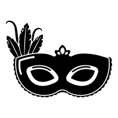 Carnival mask icon, simple black style