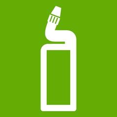 Plastic bottle of drain cleaner icon green