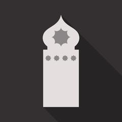 Islamic vector design glow mosque interior for Ramadan Kareem background
