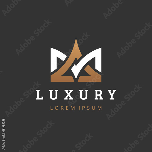 Geometric Vintage Creative Crown Abstract Logo Design Vector Template Letters M And A Monogram