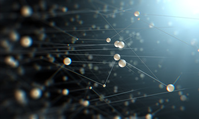 Fondo de ciencia y tecnologia.Malla o red con lineas.Investigación y desarrollo.Avances tecnologicos e investigación cientifica