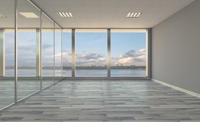 Modern office Cabinet. Meeting room. 3D rendering.