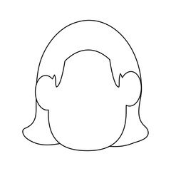 Woman faceless cartoon