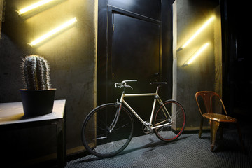 Bicycle in a cool contemporary room