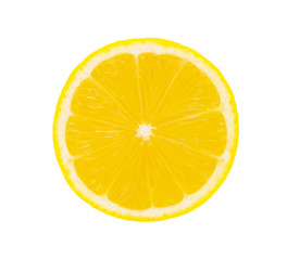 A half of Lemon isolated on white.