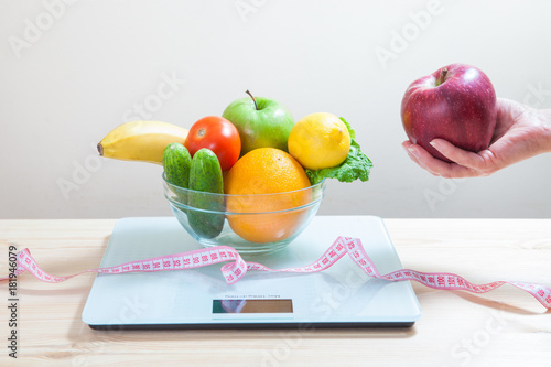 Amazing Diet For Weight Loss Vegetables Fruits Scales And Tape Download Free Architecture Designs Scobabritishbridgeorg