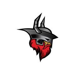 mascot viking illustration icon logo vector illustration