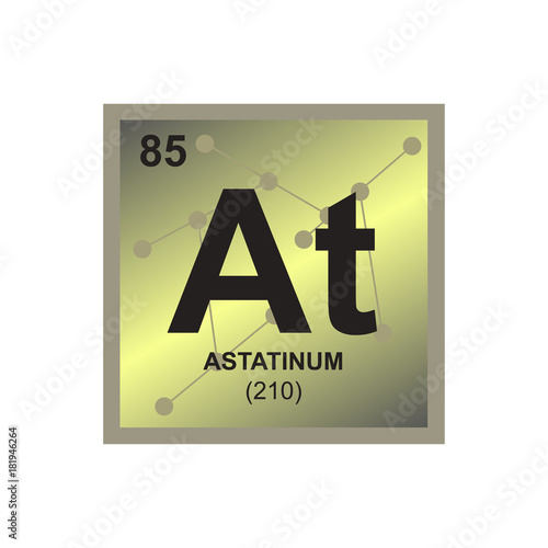 Vector symbol of astatine from the periodic table of the elements on vector symbol of astatine from the periodic table of the elements on the background from connected urtaz Image collections
