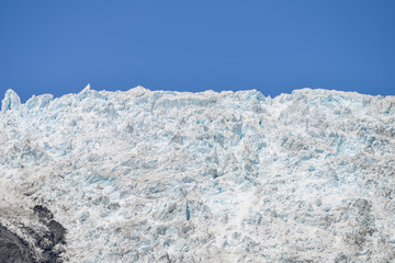 Close up of Franz josef glacier in New Zealand