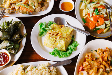 Typical Thailand fried food. Asian flavours.