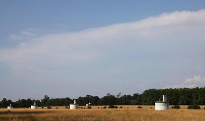 Les puits le long de la Saône et Loire.