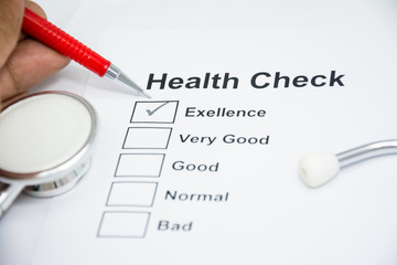 health announ check list of person every year