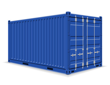 cargo container for the delivery and transportation of merchandise and goods stock vector illustration