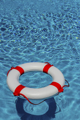 lifebuoy in a pool