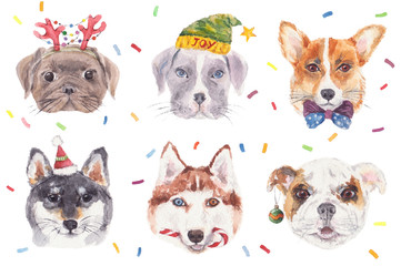Christmas Doggies Confetti Party