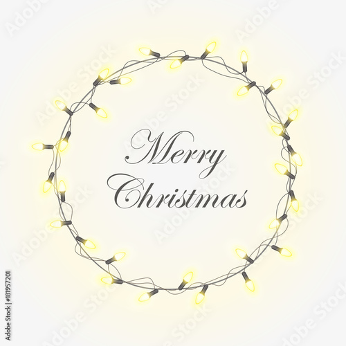 christmas light vector background with bright realistic modern wreath garlands christmas smooth and soft glowing