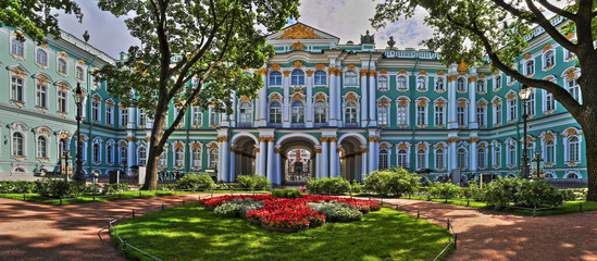 Courtyard of the Hermitage in St. Petersburg