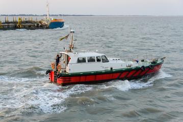 Pilot boat at sea