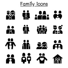Family & People icon set vector illustration graphic design