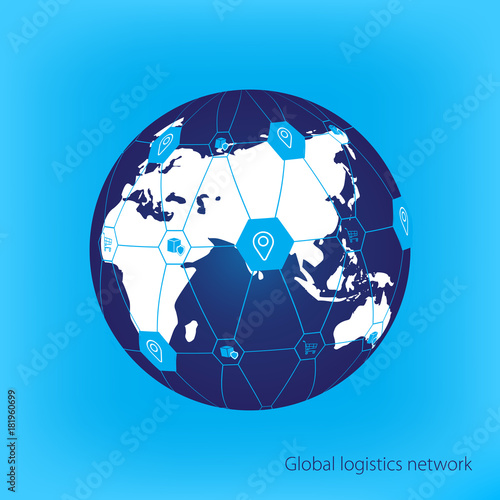 Global logistics network map global logistics partnership global logistics network map global logistics partnership connection white similar world map geolocation gumiabroncs Gallery