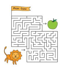Cartoon Lion Maze Game