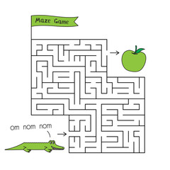 Cartoon Crocodile Maze Game