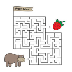 Cartoon Hippo Maze Game