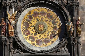 Astronomical clock Orloj at Old Town Square in Prague, Czech Republic