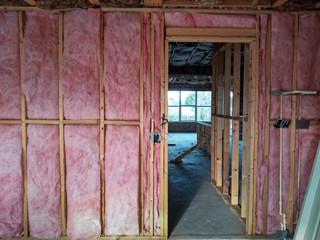 Stud wall insulation