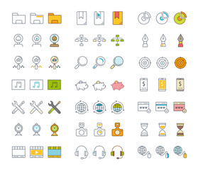 Set of Line Icons SEO and Optimization