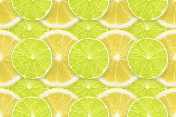 lime and lemon slices pattern