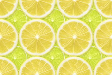 lemon over lime slices