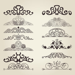 The vector image of Vintage decorative elements