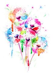 Papiers peints Peintures dandelions
