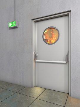 Feuerschutztür, Brandschutztür weiss